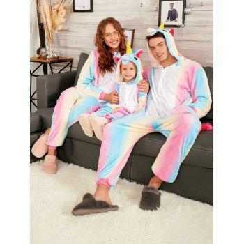 Christmas Rainbow Unicorn Animal Family Onesie Pajamas