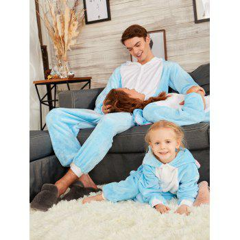 Cute Elephant Animal Onesie Matching Family Christmas Pajama - BLUE MOM M