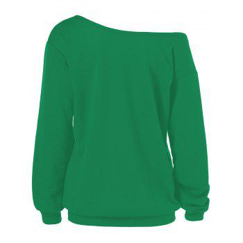 Merry Christmas Santa Claus Plus Size Sweatshirts - GREEN 2XL