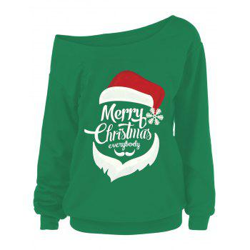 Merry Christmas Santa Claus Plus Size Sweatshirts - GREEN GREEN