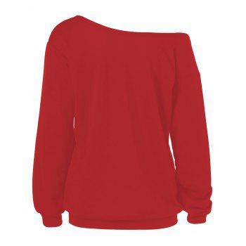 Merry Christmas Santa Claus Plus Size Sweatshirts - RED 2XL