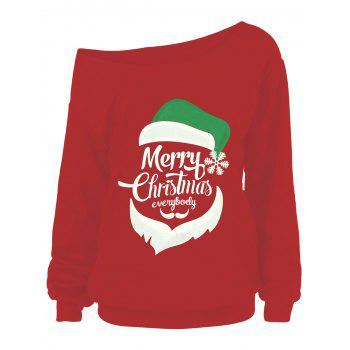 Merry Christmas Santa Claus Plus Size Sweatshirts - RED RED