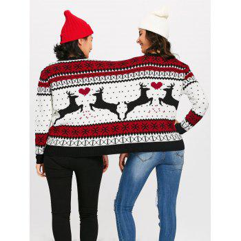 Christmas Reindeer Two Person Sweater - COLORMIX ONE SIZE
