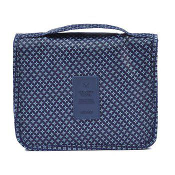 Print Patchwork Storage Bag - BLUE