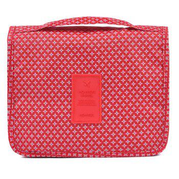 Print Patchwork Storage Bag -  RED