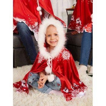 Velvet Printed Matching Family Christmas Costume - RED MOM ONE SIZE