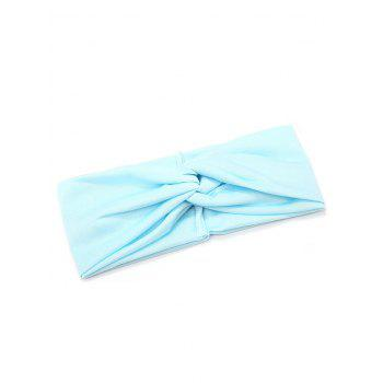 Multifunction Wide Elastic Hair Band - LIGHT BLUE
