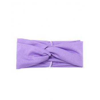 Multifunction Wide Elastic Hair Band - LIGHT PURPLE
