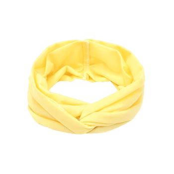 Multifunction Wide Elastic Hair Band - LIGHT YELLOW