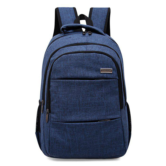 Multi Function Front Pockets Backpack - BLUE