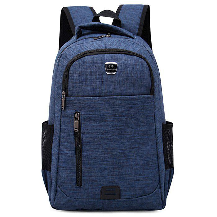 Multi Function Side Pockets Backpack - BLUE