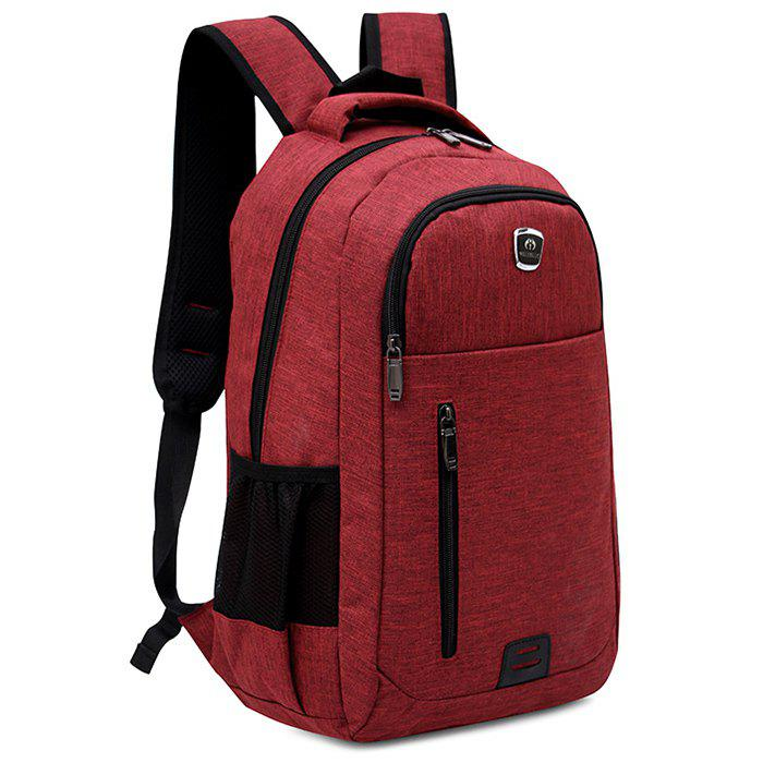 Multi Function Side Pockets Backpack - RED