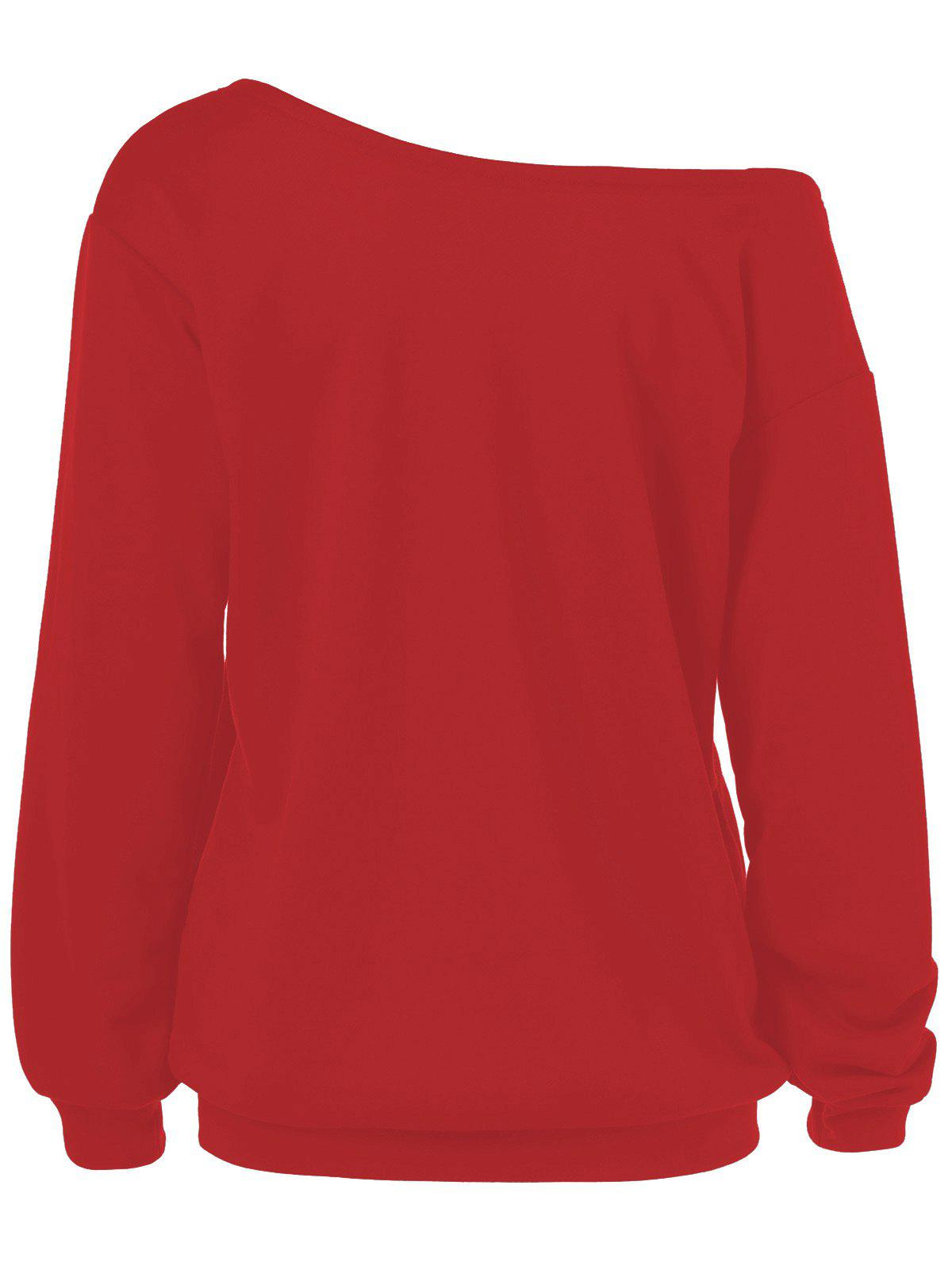 Sweat-shirt Grande Taille Merry Christmas et Père Noël - Rouge 2XL