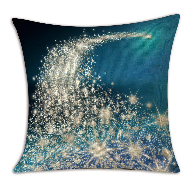 Christmas Starlight Printed Linen Throw Pillow Case - BLUE W18 INCH * L18 INCH