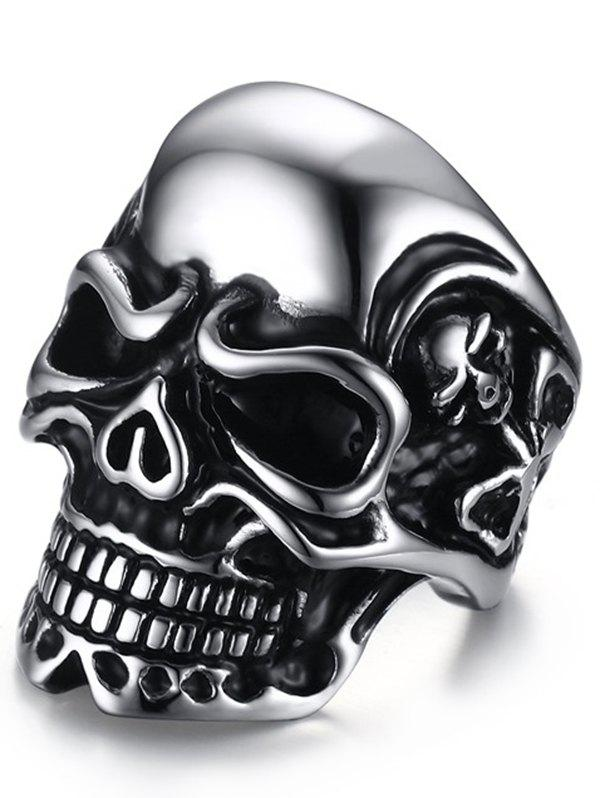 Stainless Steel Cool Skull Ring - SILVER 9