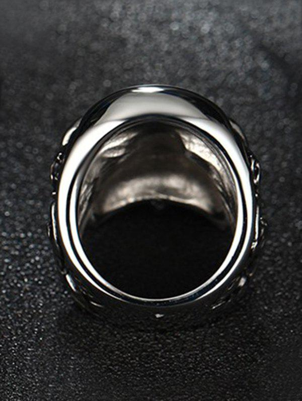Stainless Steel Cool Skull Ring - SILVER 10