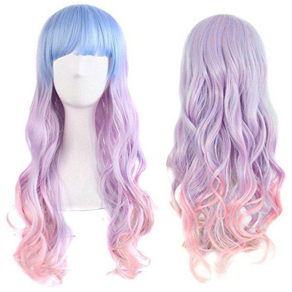 Long Full Bang Wavy Colormix Synthetic Cosplay Wig аксессуары для косплея cosplay wig cosplay cos cos