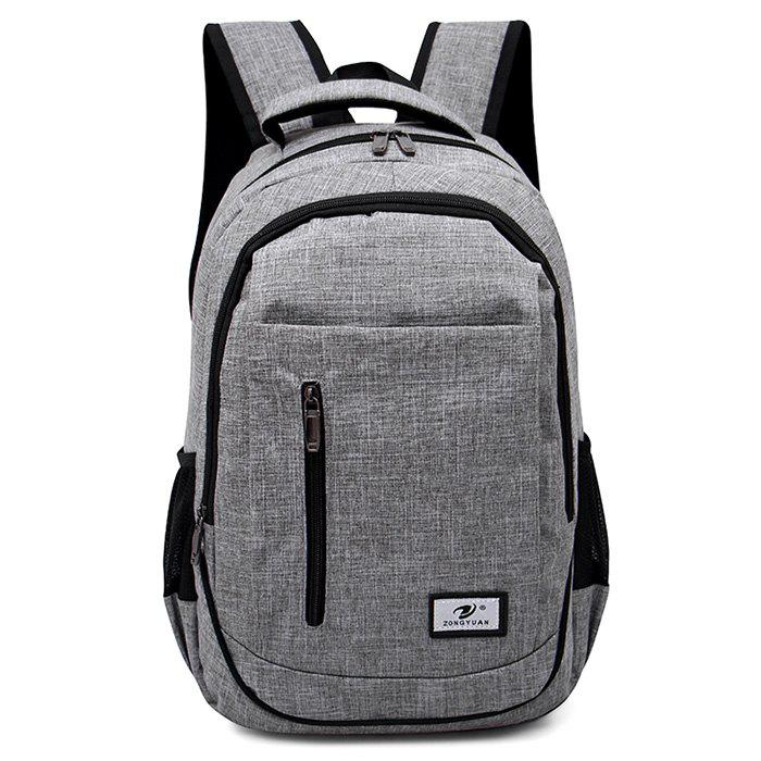 Front Zip Top Handle Backpack - GRAY