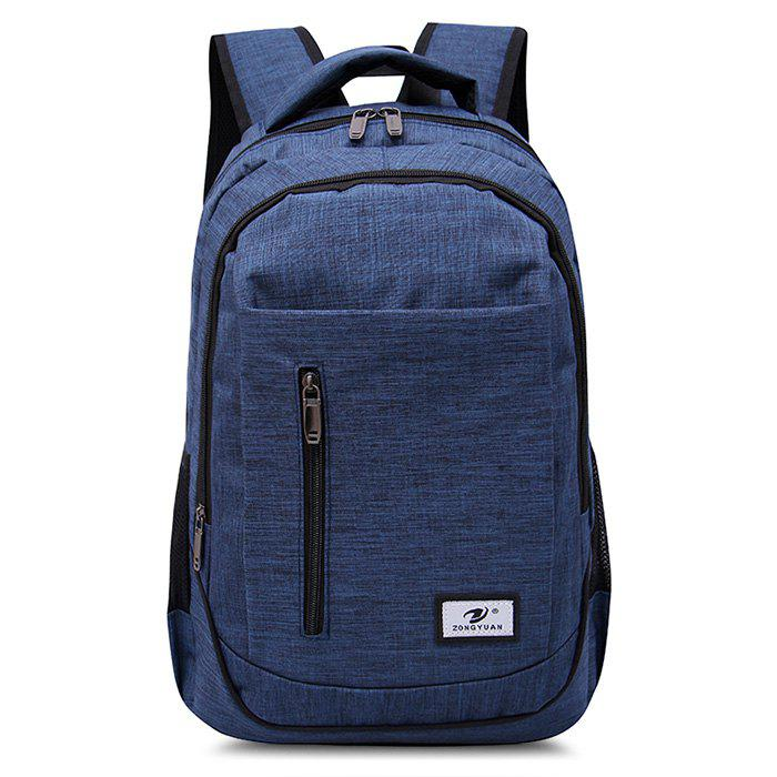 Front Zip Top Handle Backpack - BLUE