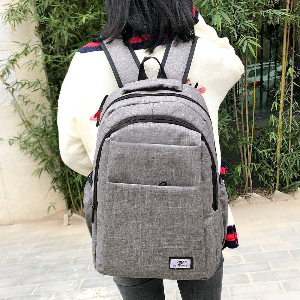 Zip Multi Function Backpack With Handle - GRAY