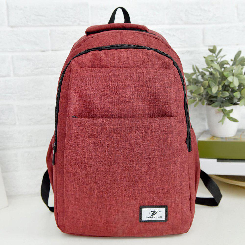 Zip Multi Function Backpack With Handle - RED