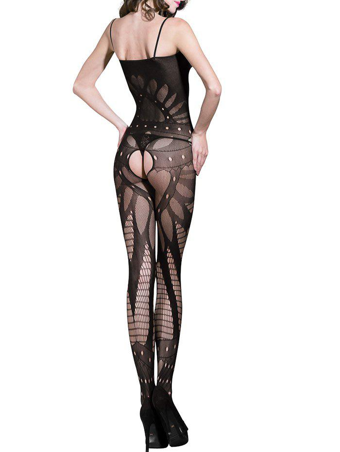 Lingerie Fishnet Slip Bodystockings - BLACK ONE SIZE