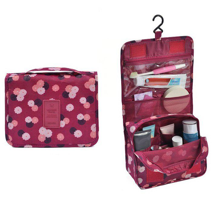 Print Patchwork Storage Bag - WINE RED