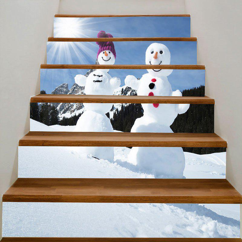 Sunshine Snowmen Couple Patterned Stair Stickers hot new year children girls fancy cosplay dress snow white princess dress for halloween christmas costume clothes party dresses