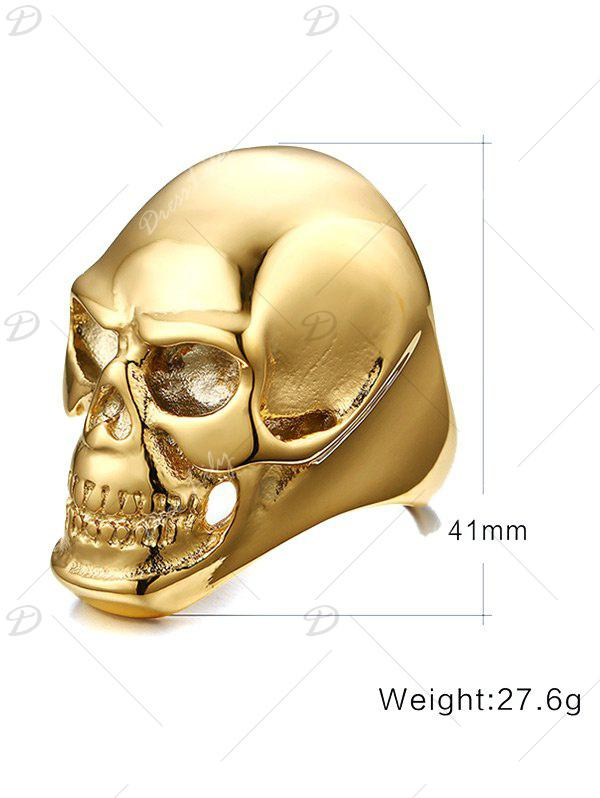 Alloy Skull Simple Ring - GOLDEN 11