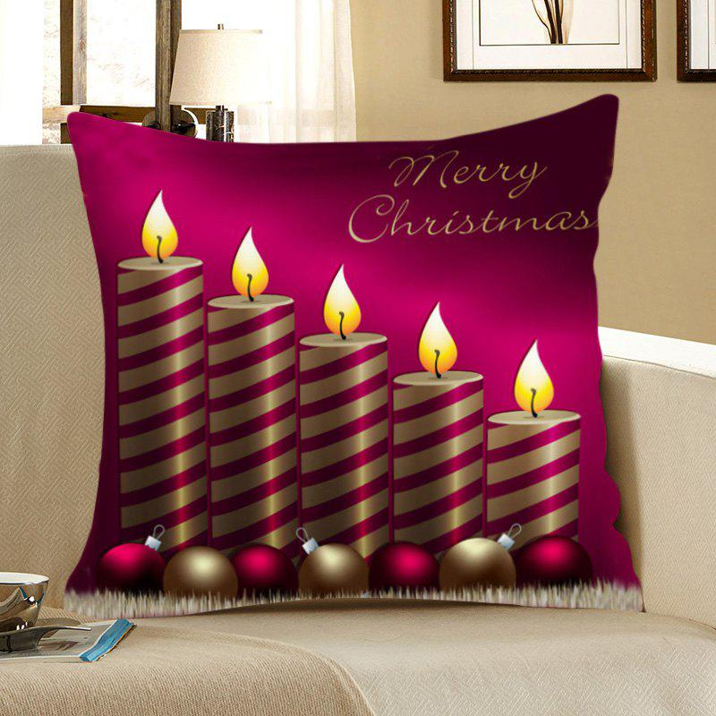 Christmas Candle Printed Square Pillow Case - COLORFUL W18 INCH * L18 INCH