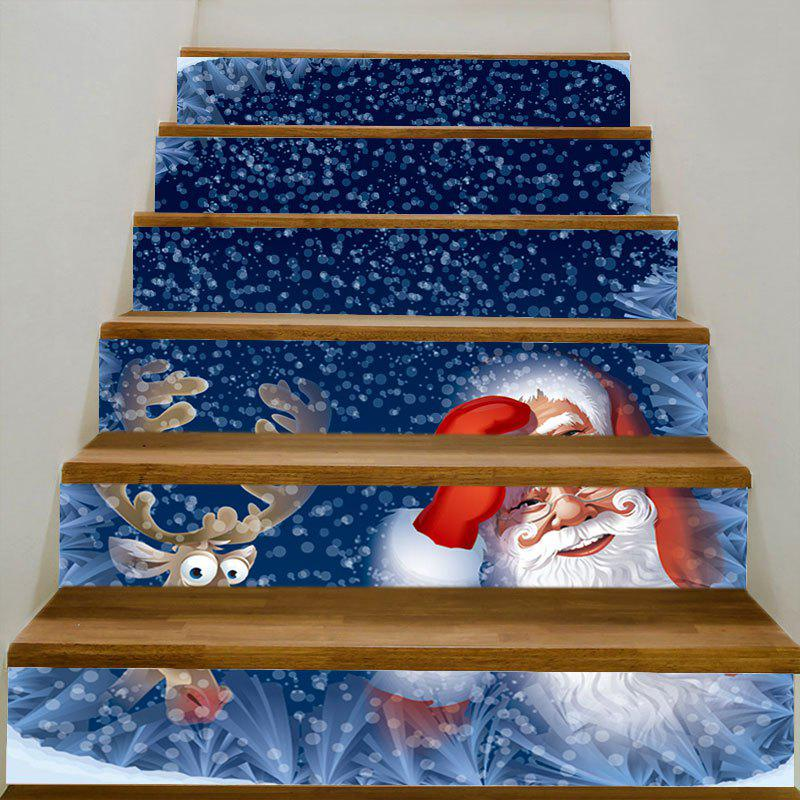 Santa and Elk Printed DIY Stair Stickers portable high chair for baby foldable baby high chairs for feeding booster seat for dinner table