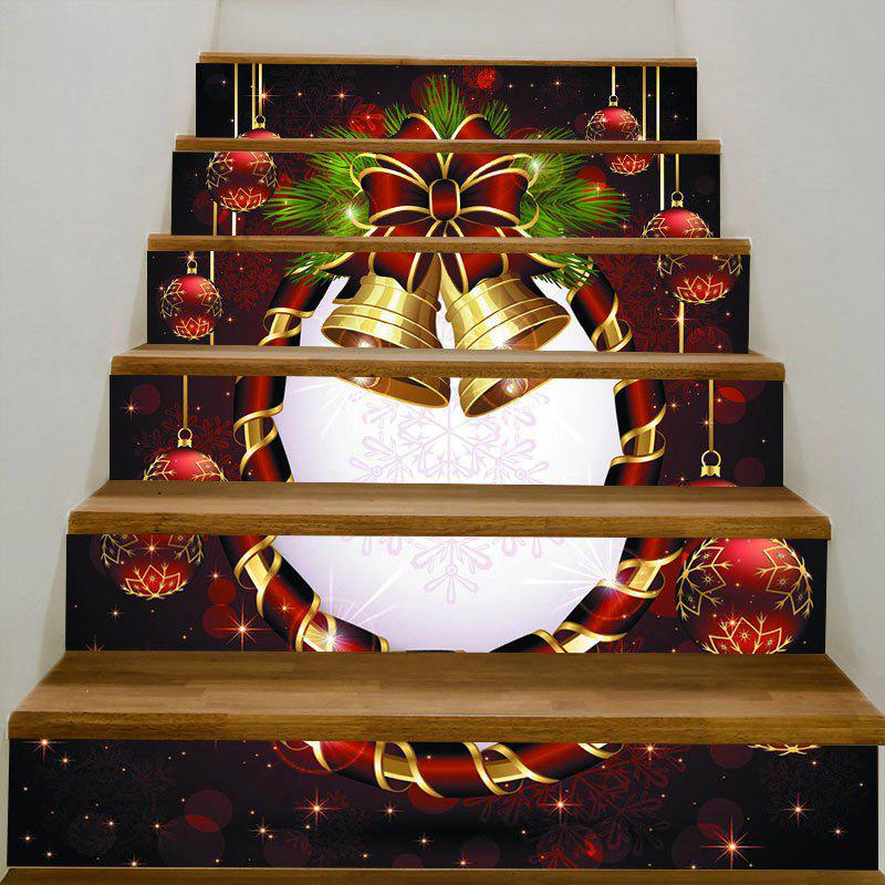 Bell Printed Decorative DIY Christmas Stair Stickers diy lovely christmas deer printed decorative stair stickers