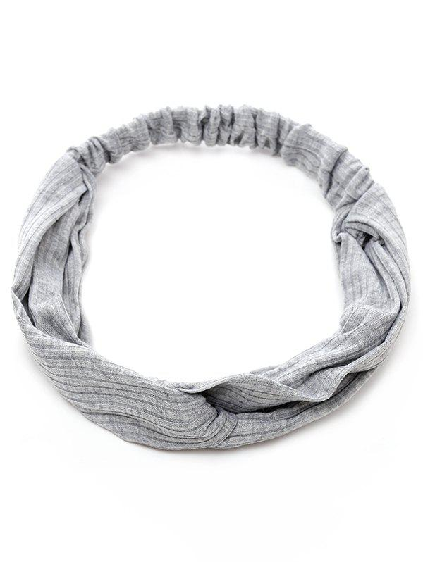 Striped Elastic Hair Band - GRAY