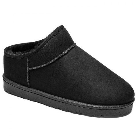 Slip On Warm Ankle Snow Boots - BLACK 43
