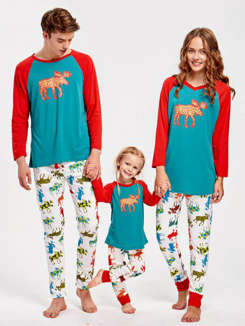 ELK Pattern Family Christmas Pajamas - multicolor DAD S