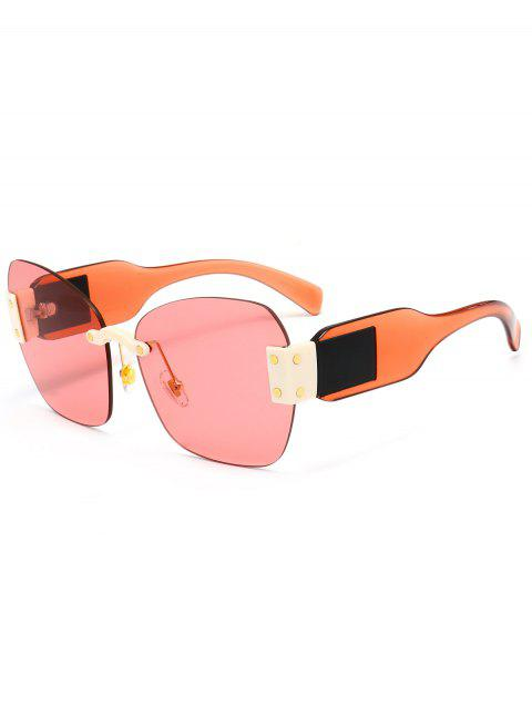 UV Protection Butterfly Shaped Decorative Oversized Sunglasses - LIGHT PINK