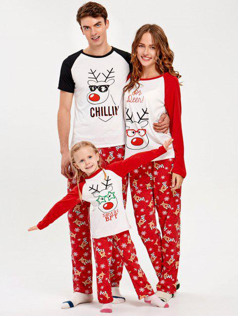 Matching Family Christmas Pajamas.Rudolph Deer Matching Family Christmas Pajama