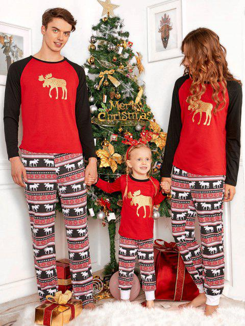 ELK Matching Family Christmas Pajama - RED KID 130