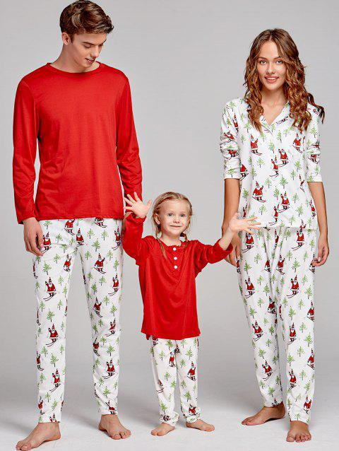 Santa Claus Printed Family Christmas Pajama Set - COLORMIX MOM M