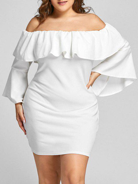 23 Off 2018 Off The Shoulder Formal Plus Size Dress In White 2xl
