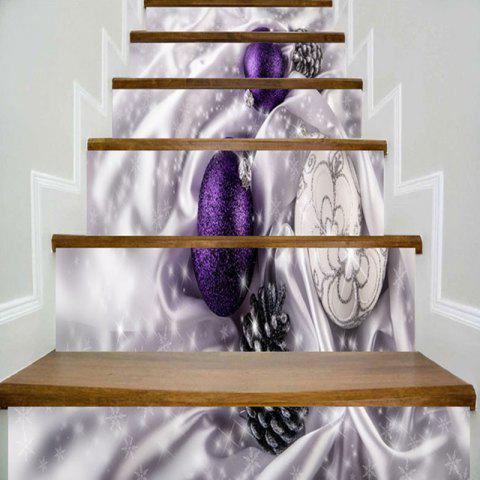 Christmas Balls Printed Decorative DIY Stair Stickers - COLORMIX 100*18CM*6PCS