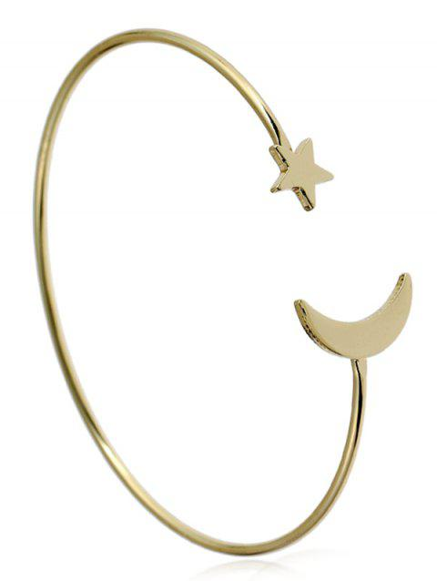 Alloy Moon Star Circle Cuff Bracelet - GOLDEN