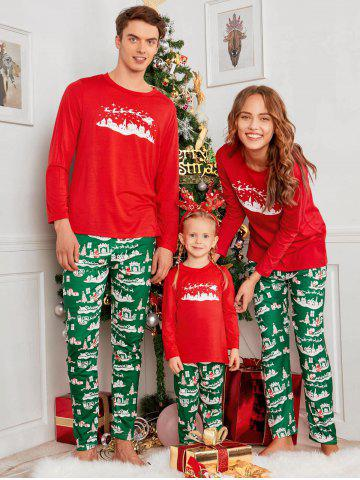 city printed family christmasxmas pajama set