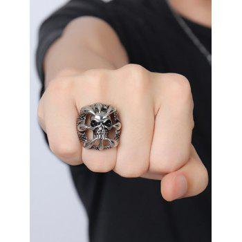Stainless Steel Claw Skull Finger Ring - SILVER SILVER