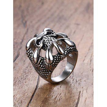 Stainless Steel Claw Skull Finger Ring - SILVER 10