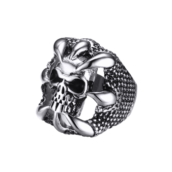 Stainless Steel Claw Skull Finger Ring - SILVER 9