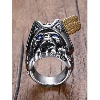 Rhinestone Stainless Steel Pirate Skull - SILVER 11
