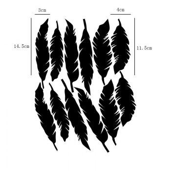 Feather Shape Noctilucence DIY Wall Stickers -  GREEN