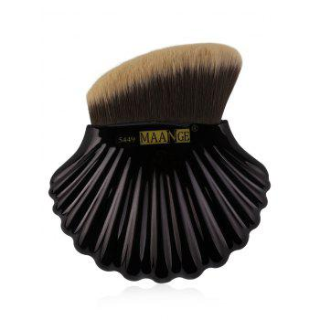 Multifunctional Shell Shape Fiber Hair Bevelled Foundation Brush - BLACK BLACK