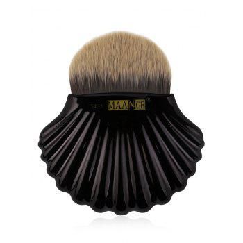Portable Shell Pattern Embellished Foundation Makeup Brush - BLACK BLACK